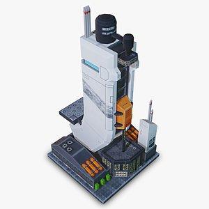 3D model skyscraper - mobile asset