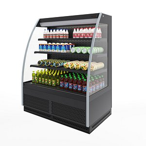 3D Open Refrigerated Cabinet