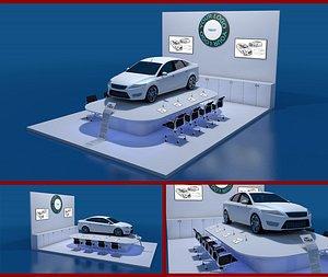 exhibition car 3D