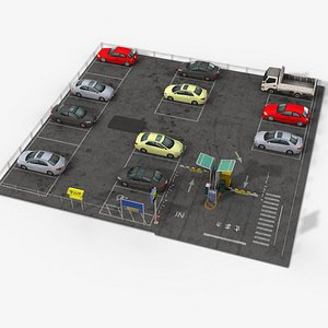 3D parking 0004 model
