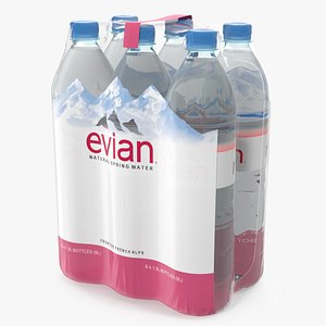 3D evian mineral water 6