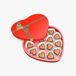 3D chocolate box model