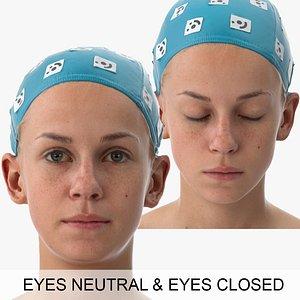 3D rhea clean scans eyes model