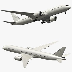 3D model boeing 787 white