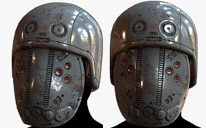 3D Gas mask respirator scifi futuristic 3D model