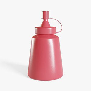 Small Ketchup Bottle model
