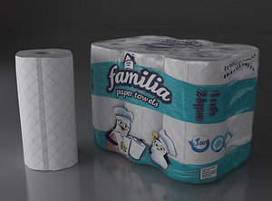 3D model towel paper package 6