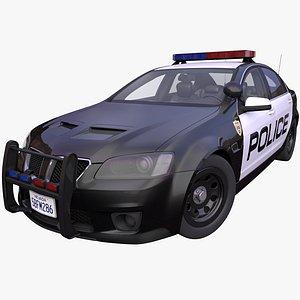 generic american police car 3D