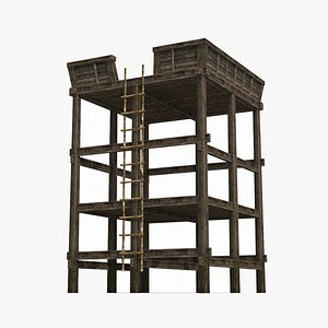 An ancient lookout for defensive towers 3D model