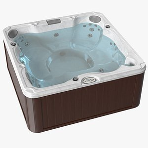 3D JACUZZI J235 Hot Tub Brown with Water