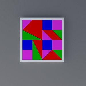 puzzle wooden child 3D model