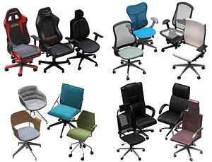 3D model office chair pack
