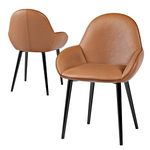 3D leather arm chair seating