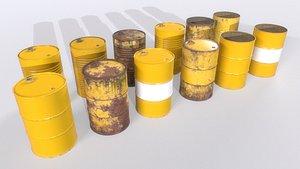 3D Barrel PBR Pack 4