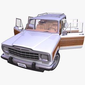 3D model generic classic suv interior car
