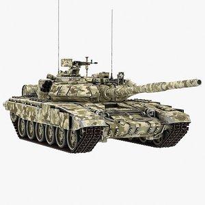russian tank t-90 3D model