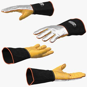 3D Lincoln Electric Reflective Heat Resistant Welding Gloves