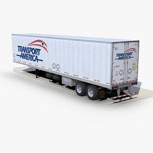dry van trailer 48ft 3D model