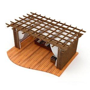3D model wooden camellia