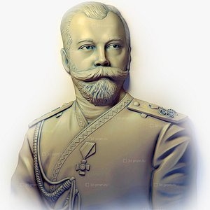 Nicholas II of Russia Nikolai II Alexandrovich Romanov FREE OBJ STL 3D model