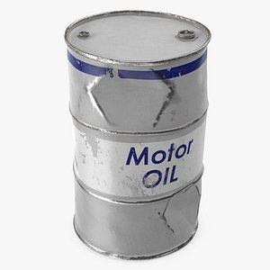 old motor oil barrel 3D