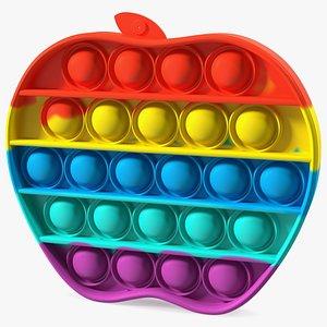 3D Rainbow Apple Pop It Toy