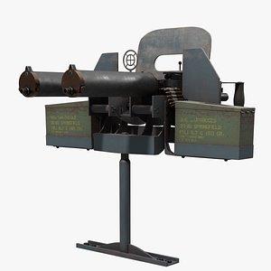 Double Brouwning M1917 3D model