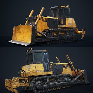 3D XCMG track tractor