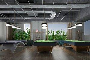 3D Billiards table billiards private billiards cue billiards cue table tennis activity room