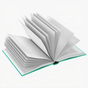 Open book mockup 02 3D model