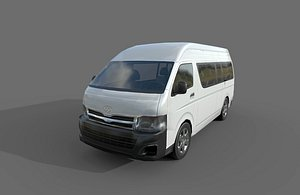 toyota hiace super long 3D