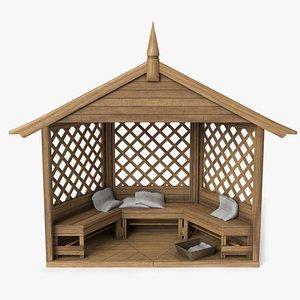gazebo structure patio 3D model