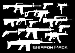 WEAPONS PACK LOW-POLY PBR Low-poly 3D model 3D