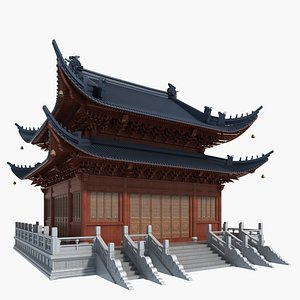 3D chinese temple