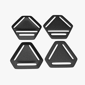 3D Three-way Adjusters