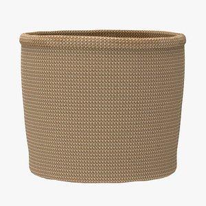 straw basket 3D model