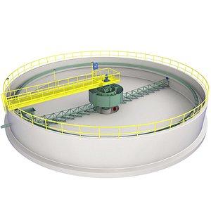 Sewage Treatment Plant 4 3D model