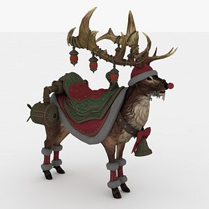 Santa Deer Rigged model