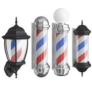 3D model barber lamps