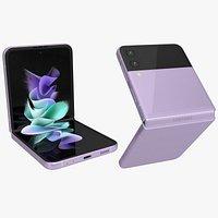 Samsung Galaxy Z Flip 3 Lavender Animated