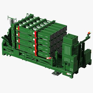 Folded Iron Dome Air Defense Batteries 3D