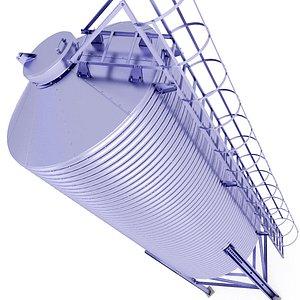3D model Farm Grain Warehouse Silo 26