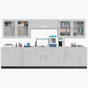 Laboratory Cabinets 3D model