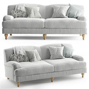 3D model Rose Fabric Sofa