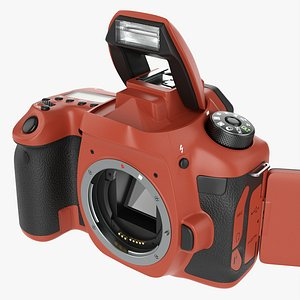 DSLR camera body open orange model