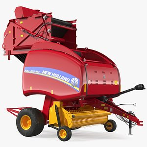 new holland 460 rigged model
