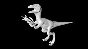 3D deinonychus