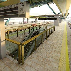 3D metro station model