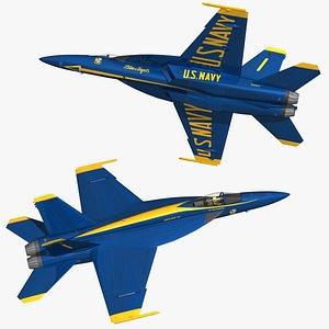 F18 Super Hornet Blue Angels 3D