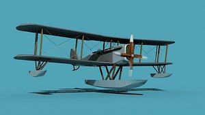 Airco DH-4 Unmarked  Seaplane 3D